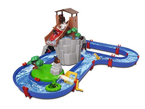 Big Spielwarenfabrik 8700001647 AdventureLand - Pista d'acqua con montagna, torre e bacino idrico,...