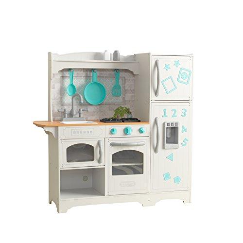 KidKraft- Campagna Gioco da Cucina in Legno per Bambini con Ghiaccio e Accessori Inclusi – Ez Kraft...