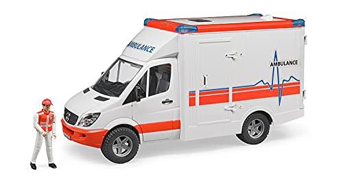 Bruder Spielwaren Gmbh + Co.Kg- Bruder Emerg Ambulanza C/Autista 2536, Multicolore, 837280