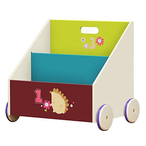 labebe - Libreria Scaffale, Mobiletto Multiuso Porta Libri Bambini, Scaffale Portagiochi Bianca,...