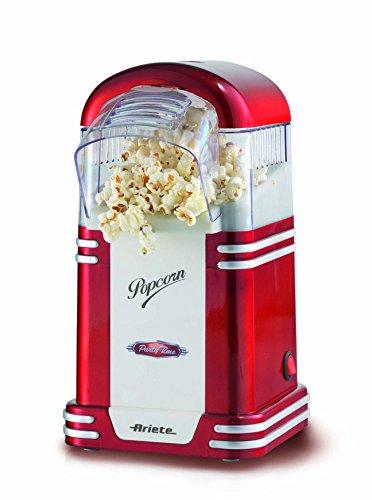 Ariete Popcorn Popper Party Time Macchina per Pop-Corn Senza Olio e Grassi, Plastica, 1.100 watt, Rosso