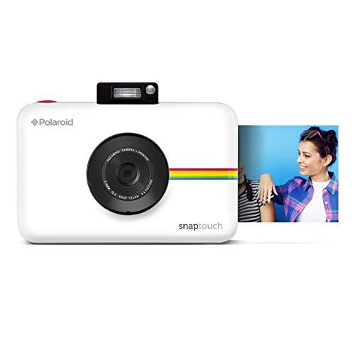 Polaroid Snap Touch - Fotocamera digitale a stampa istantanea Zink Zero con schermo LCD, bianco