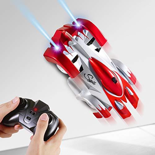 SGILE Auto Telecomandata, RC Auto con 360 Rotazione, 2 modalità Wall/Floor e 5 Luci a LED, Ideale Regalo...