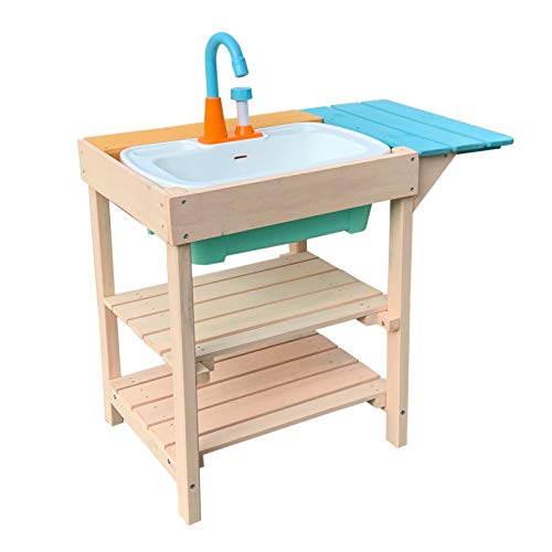 Wiltec Cucina da Esterni per Bambini in Legno Cucina Giocattolo per Giardino terrazza e Balcone con...