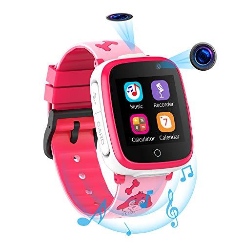 Smartwatch per Bambini con 2 Fotocamere - SOS Two Way Call Lettore Musicale HD 7 Giochi Puzzle 1.54...