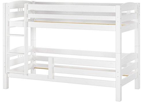 Erst-Holz Letto Castello 90x200 per Bambini in Pino massello Bianco divisibile 60.10-09 WoRF