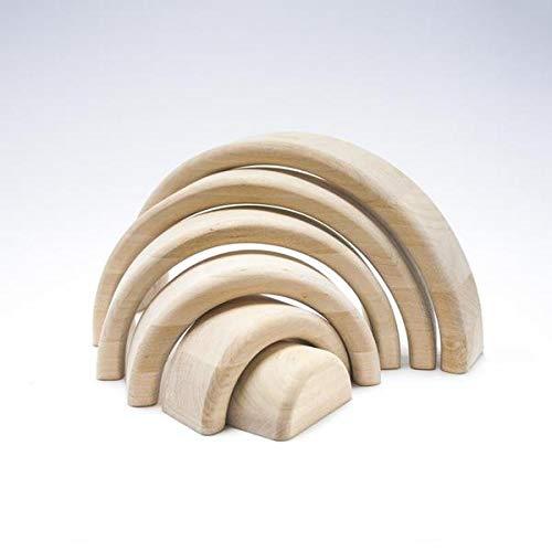 Ticumiku Arco Iris Waldorf in legno naturale da 6 pezzi