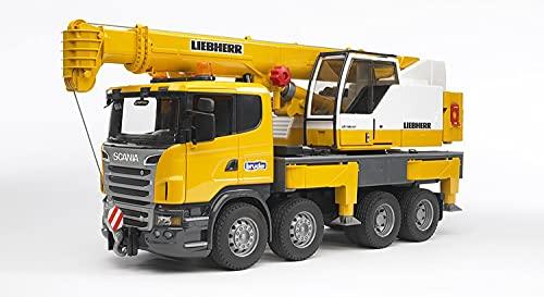 Bruder 03570 - Camion Scania R Serie S con Gru Liebherr con Luci e Suoni