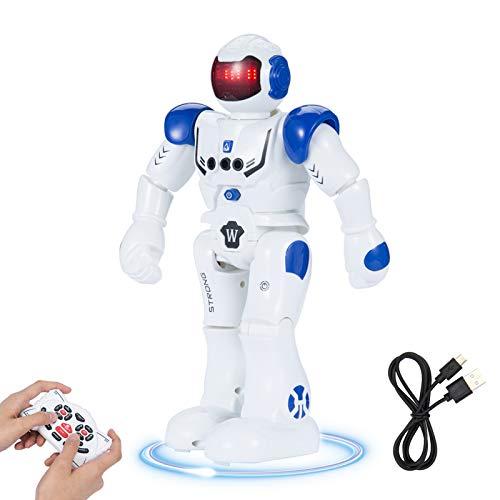 SUNNOW Robot Giocattolo per Bambini Programmazione Intelligente Telecomandato Robot Interattivo Gesti...
