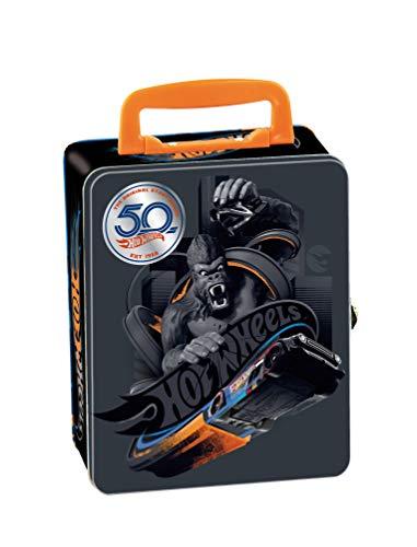Theo Klein 2881 Valigetta di raccolta Hot Wheels in metallo che può contenere fino a 50 auto, Pratiche...