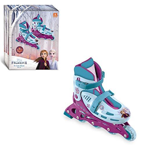 Mondo Toys - Design Frozen II In Line Skates - pattini in linea regolabili - Ruote PVC - roller bambino /...