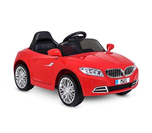 MEDIA WAVE store Auto elettrica LT861 per Bambini Crazy Rossa con Porte Automatiche Tre velocità