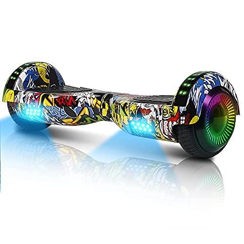 Hoverboard-Hoverboard Per Bambini, Hoverboard Autobilanciato A Due Ruote Da 6,5 Pollici, Con Bluetooth E...