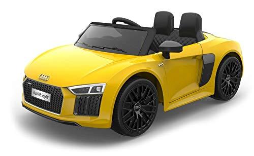 TOYSCAR electronic way to drive Auto Macchina Elettrica 12V R8 Spyder per Bambini LED MP3 con Telecomando...