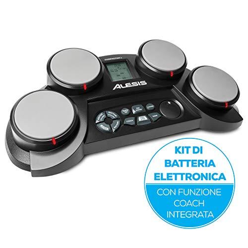 Alesis CompactKit 4 - Batteria Elettronica Portatile da Tavolo con 4 Pad Sensibili Alla Velocity, 70...