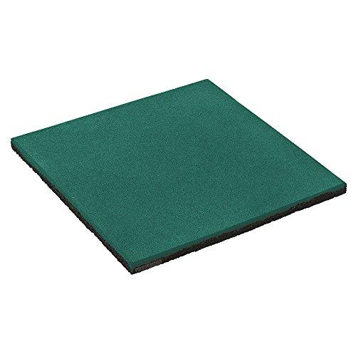 FATMOOSE Mattonella antitrauma SoftSafe L Mattonella di sicurezza Tappetino di gomma, 50x50x2,5cm, verde