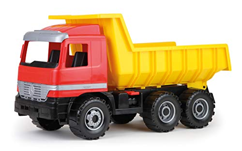 SIMM Spielwaren Lena 02031 - Actros Dump Truck, con Serratura a 100 kg di capacità di carico, ca. 63 cm