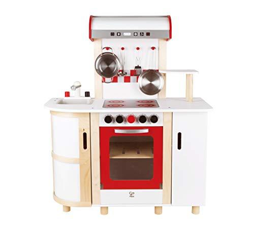 Hape- Cucina Multifunzione Giocattolo in Legno, Multicolore, E8018