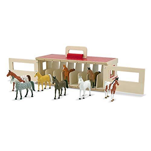 Melissa & Doug- 13744 Scuderia per Cavalli da Esibizione, Multicolore