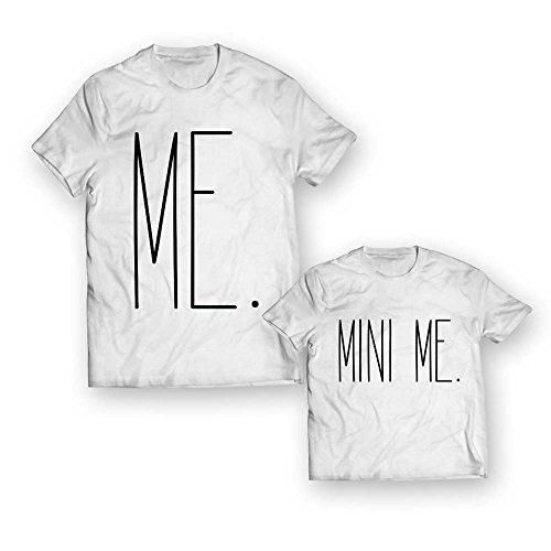 Coppia di T-Shirt Maglie Padre - Figlio Figlia Idea Regalo Festa del Papa' Me Mini Me
