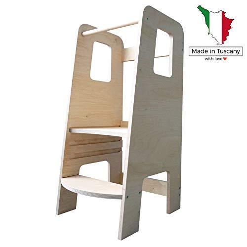 ùlly by moblì | la prima Learning Tower in legno naturale | Realizzata in Italia secondo i principi...