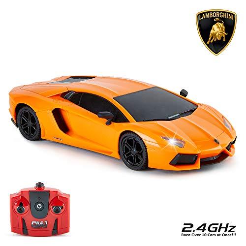 CMJ RC Cars Lamborghini Aventador - Telecomando con licenza ufficiale per bambini con luci di lavoro,...