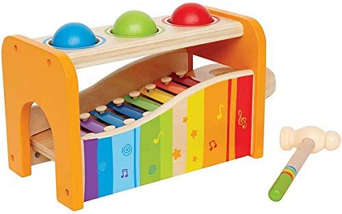 Hape Banco Delle Palline con Xilofono - Premiato Come Giocattolo Musicale di Legno Resistente per i...