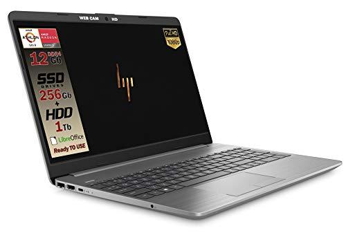 HP 255 G8 Silver Notebook Portatile, SSD M2 256GB + 1TB, Display FullHD 15.6', Amd A9 Gold 3150U fino a...