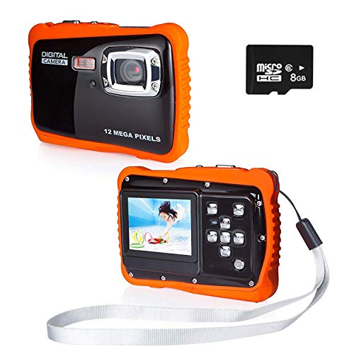 PROACC Fotocamera Impermeabile per Bambini, HD 720p 12MP Digitale Camera Kids Fotocamera Impermeabile...