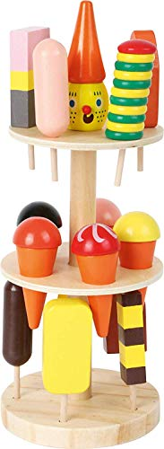 5261 Porta gelati in legno small foot, accessori per negozio e cucina da gioco per bambini, con 15 gelati...