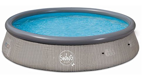 Swing Quick Up Easy aufstell Pool Rattan scuro, 366x 91cm, senza filtro