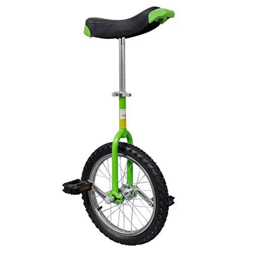 vidaXL Monociclo ruota regolabile verde acciaio e plastica uniciclo 16' / 40,7cm