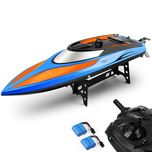 E T RC Boat, Remote Control Boat for Pools and Lakes 2.4GHz High Speed RC Racing Boats for Adults & Kids...
