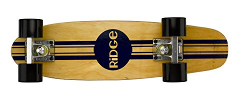 Ridge Skateboards Maple Mini Cruiser Original Skateboard, Nero