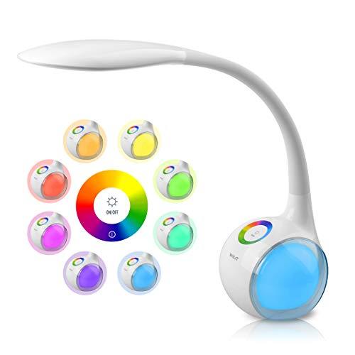 WILIT T3 Lampada da Tavolo LED Regolabile con 256 Luci Multicolore RGB e 34 LEDs, 3 Livelli Dimmerabili,...