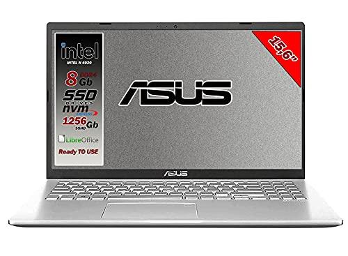 Asus Vivobook notebook, SSHD da 1256Gb, Cpu Intel N4020 fino a 2.8 Ghz, 8Gb ddr4, Display da 15,6 hd,...