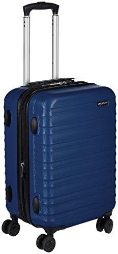 Amazon Basics - Valigia Trolley rigido, 55 cm (utilizzabile come bagaglio a mano di dimensioni standard),...