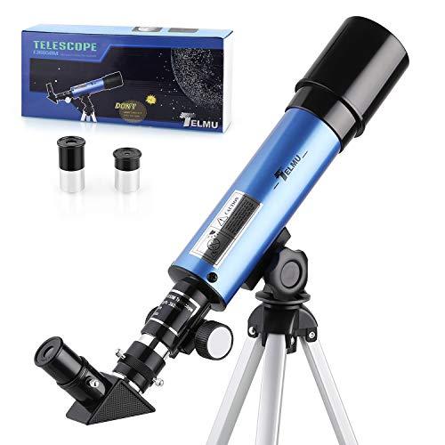 TELMU Telescopio Astronomico - 50/360mm Telescopio Astronomico, per Bambini e Principiante, con Specchio...