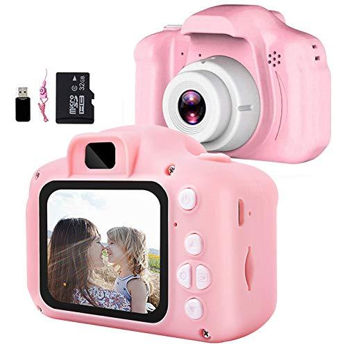 Fotocamera per Bambini,Mini Ricaricabile Videocamera Fotocamera Digitale Portatile con 32GB Scheda 1080P...