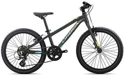 Orbea MX 20 Vélo pour Enfant VTT 7 Vitesses 20'', Couleur : Noir picha