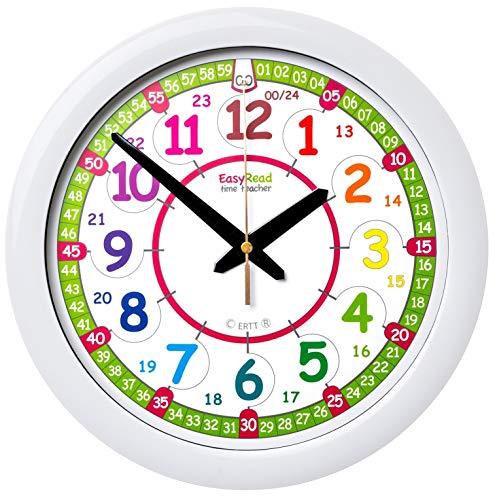 EasyRead ERTT-DIG Orologio da Parete per Bambini Time Teacher con indicazione 12 e 24 ore (Digitale)