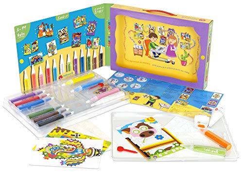 Sabbiarelli Sand-it for Fun - Kit Il Colore Che Brilla Color & Shine - Set Lavoretti Creativi: Crea e...