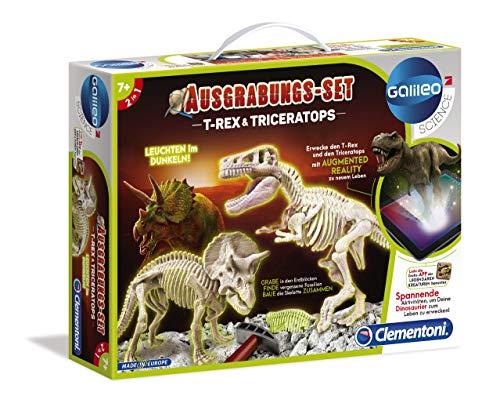 Clementoni - 69408 - Kit Archeogiocando T-Rex e Triceratopo, per bambini dai 7 anni in su, scavo di...