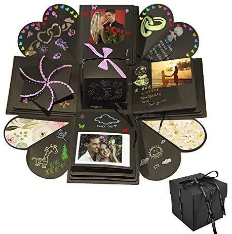 Explosion Box DIY Photo Album Creativo Album Scrapbook per Matrimoni, Festa della Mamma, Compleanno...