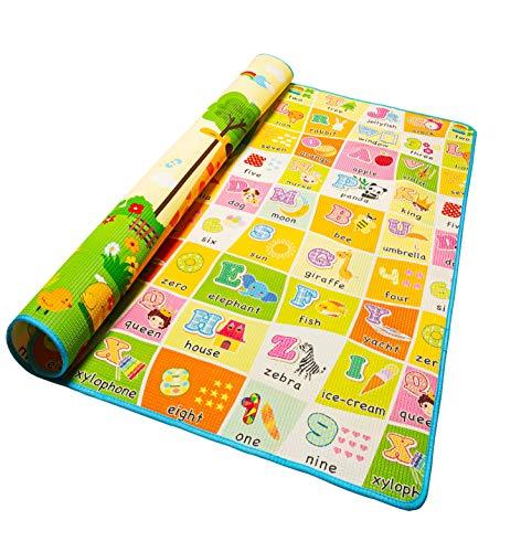 Alea Baby® Tappeto Neonato Gattonamento Ripiegabile 120x160 (con borsetta) Gioco e Divertimento Bambini...
