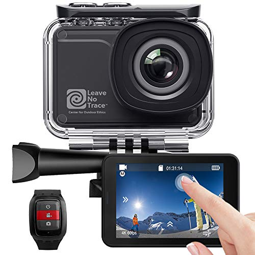 AKASO Action Cam WiFi Native 4K/60fps 20MP Touch Screen Telecomando EIS 39m Impermeabile 3 Batterie 170°...