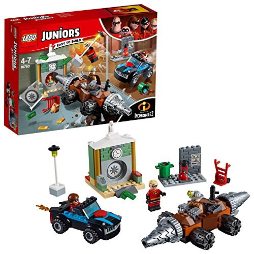 LEGO- Juniors Set Mattoncini Rapina in Banca del minator, Multicolore, 10760