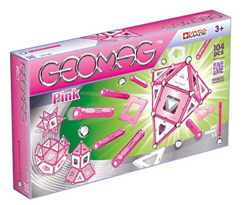 Geomag- Pink Gioco di Costruzione Magnetico, Multicolore, 104 Pezzi, PF.524.344.00
