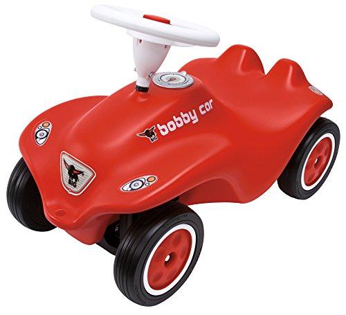 BIG 800056200 - Bobby Car Cavalcabile, Volante con Suono, Colore Rosso