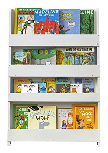 Tidy Books BC-WNL - Libreria per Bambini, in Legno, Bianco, 115x77x7cm